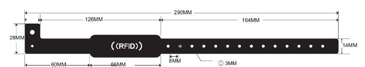 Виниловый RFID браслет В110