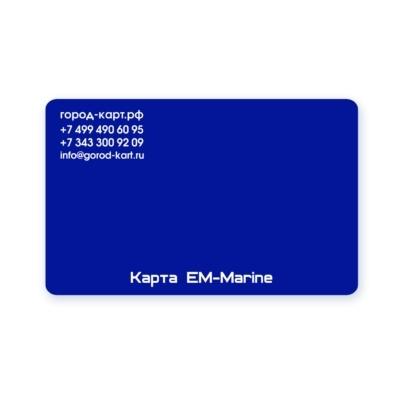 Карта EM-Marine синяя